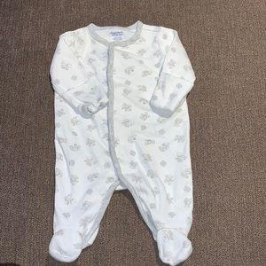 Ralph Lauren newborn gray and white footie